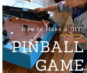 DIY Cardboard Pinball W/ Flipper & Launcher