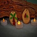 Sea Glass Drift Wood Ornaments