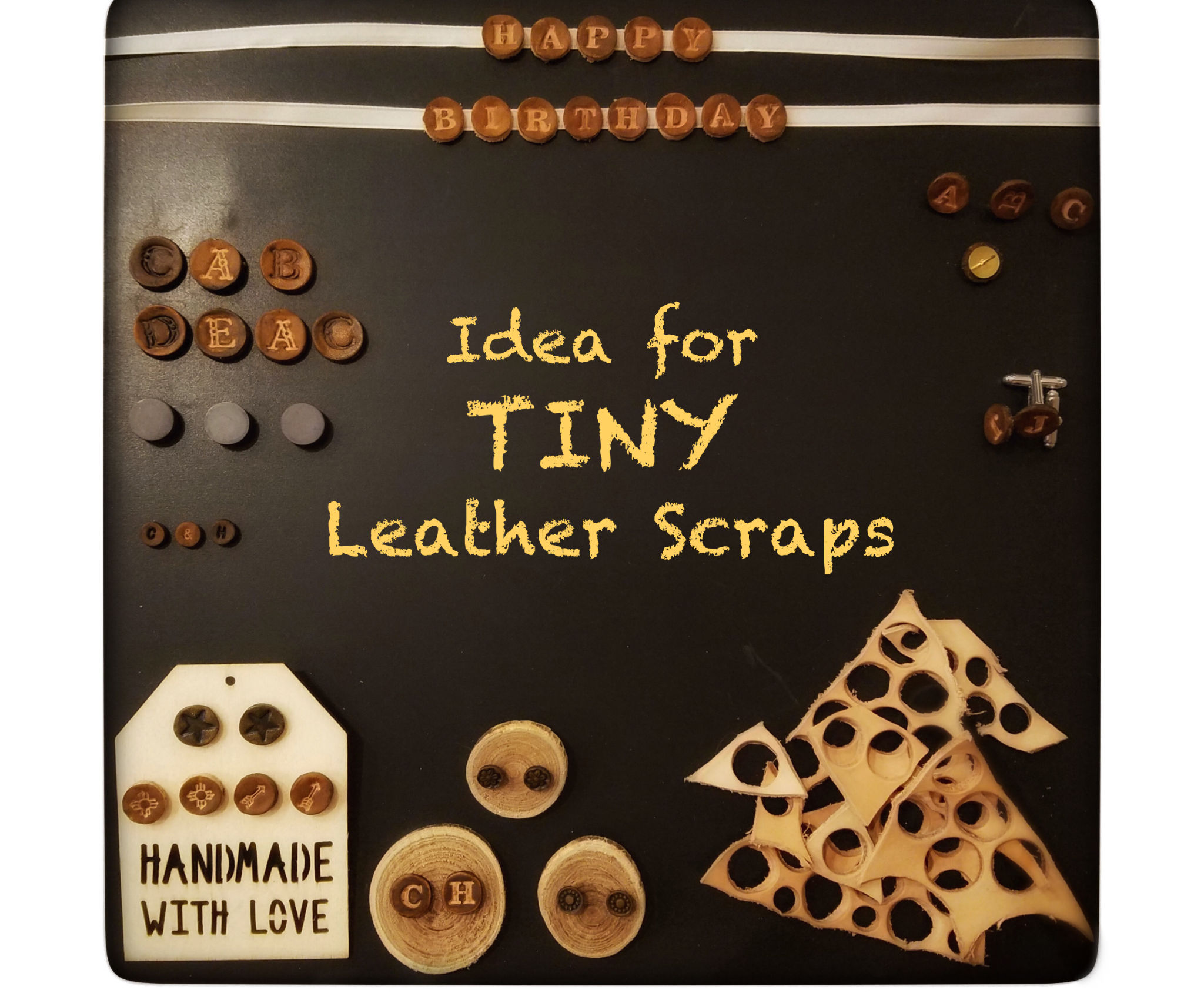 Ideas for Tiny Leather Scraps