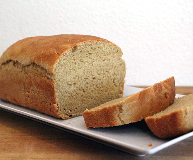 Overnight Soaked Flour Sandwich Bread