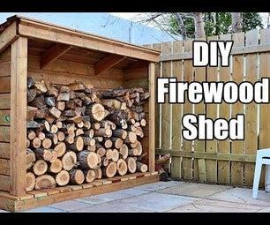 DIY Firewood Shed
