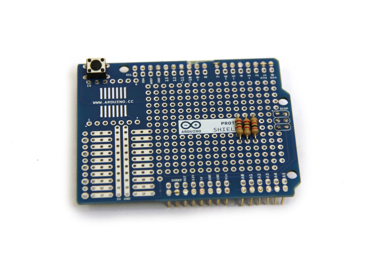 Wire Buttons on Arduino Shield - Part 1