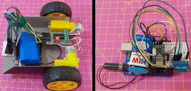Working of Hand Gesture Controlled Robot Using Arduino