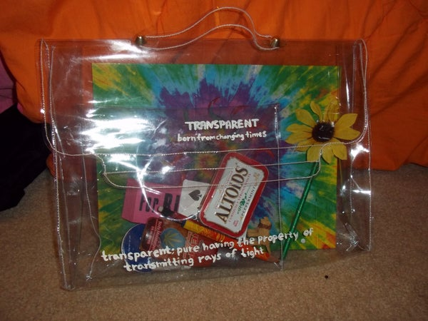 Make Your Own See Through Bag