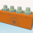 Geocaching容器-3D打印,可锁定4号PIN