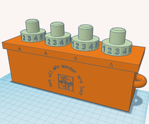 Geocaching Container - 3D Printed, Lockable With a 4-number PIN