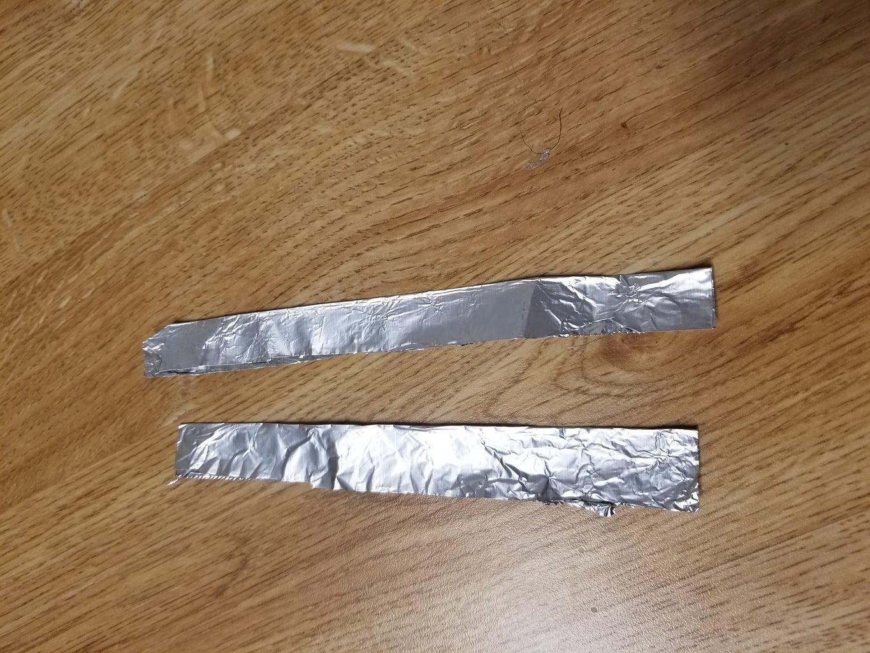 Prepare Two Pieces of Aluminum Foil
