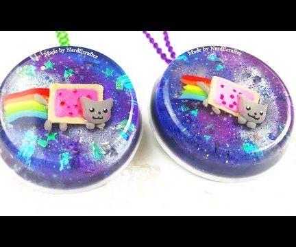 Nyan Cat Galaxy Pendant