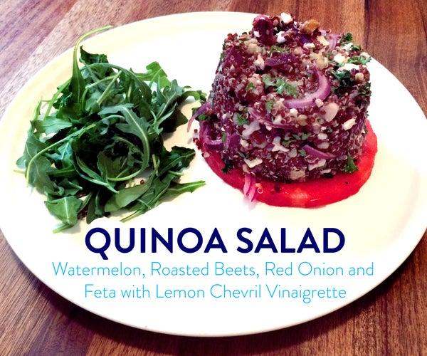 Quinoa Salad With Watermelon and Lemon Chevril Vinaigrette