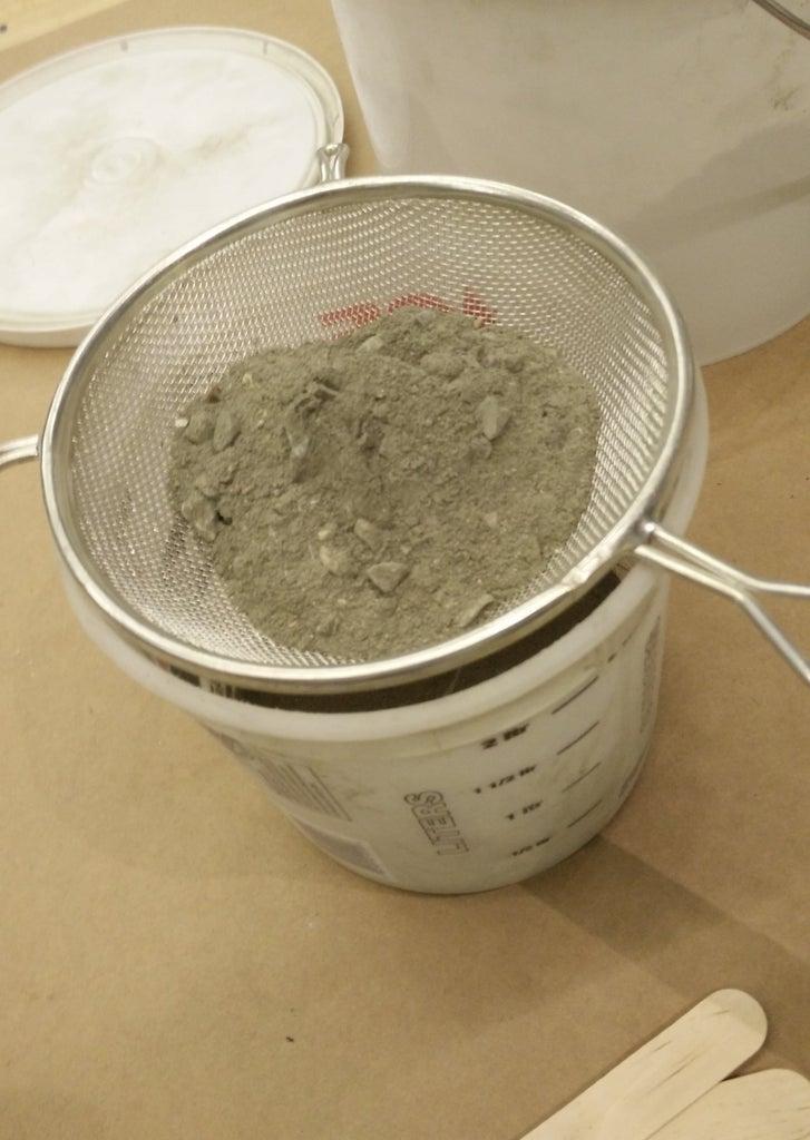 Preparing and Adding the Concrete