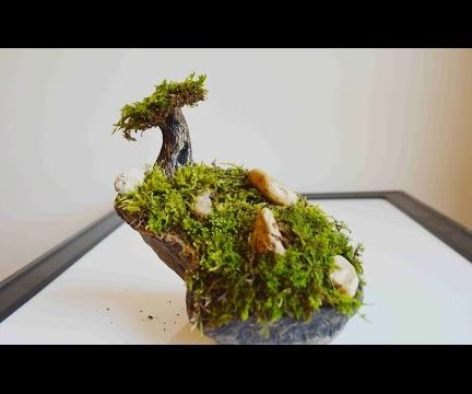 How To Make A Moss Tree & Garden With Polymer Clay