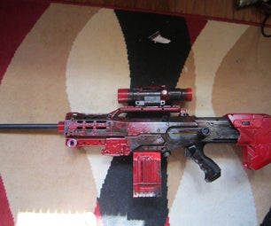 Nerf Longshot Red Paintjob
