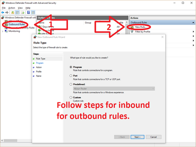 OutBound Rules