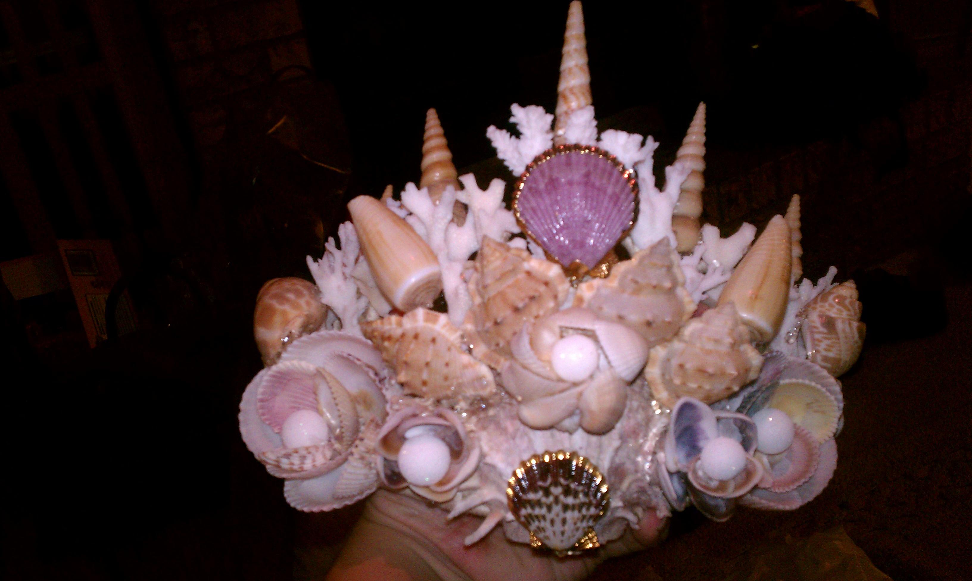 Wearable Shell Mermaid Crown