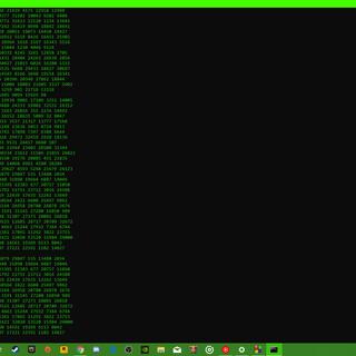 Command Prompt Matrix NUMBERS