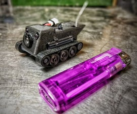 Nano Rc Fpv Tank Inspection Bot