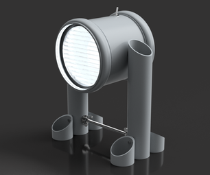 "Plastic Pipe Lamp - LED 12V 4W - (""Drainpipe Lamp"")"