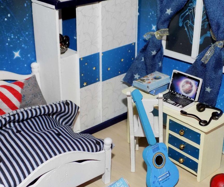 diy miniature dollhouse boys bedroom