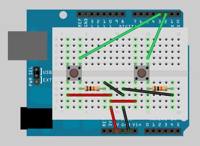 Arduino - Fritzing Diagram