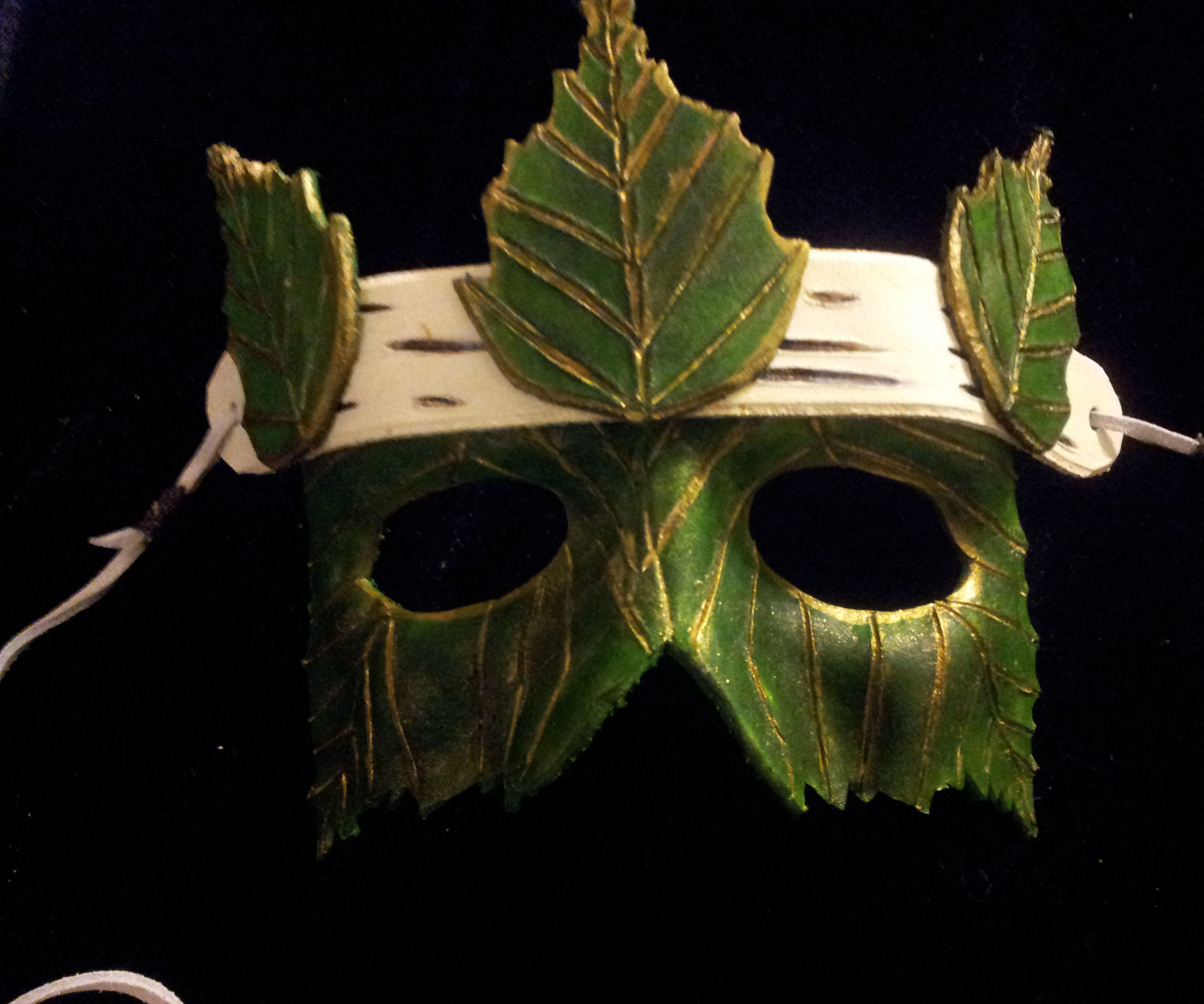 How to Make a Silver Birch Leaf Leather Mask