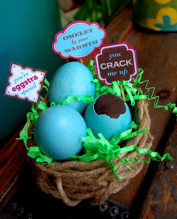 Chocolate-Filled Eggs and FunTags