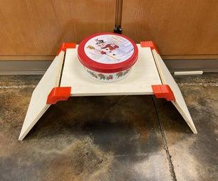 狗食碗立式 - 胶合板和3D打印
