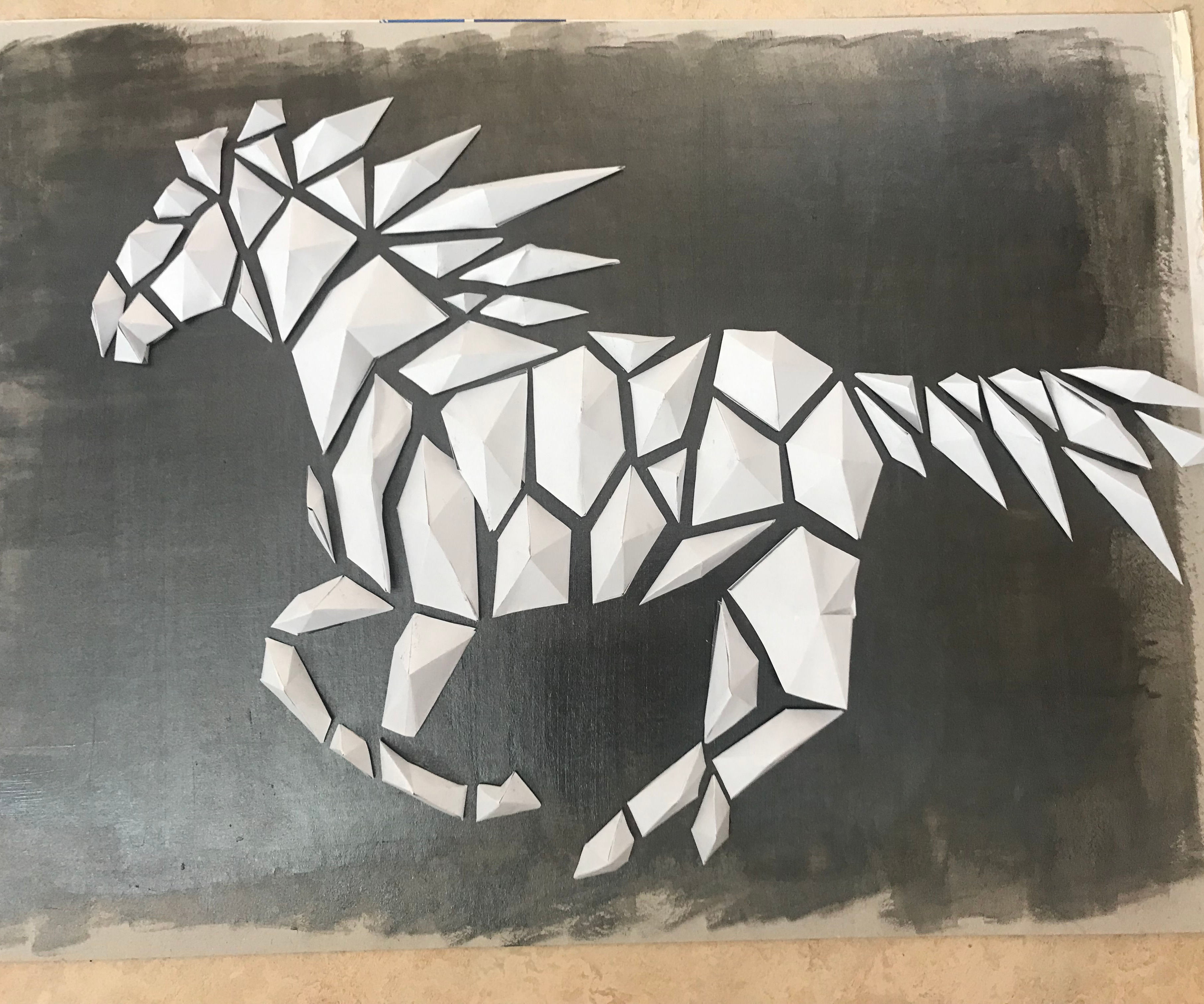 How to Make a 3D Low-poly Paper Horse