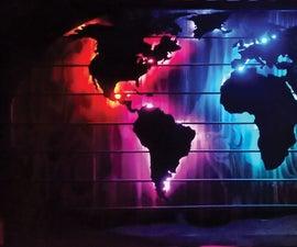 LED World Map/Clock