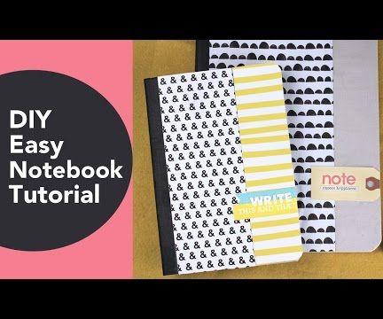 DIY Easy Notebook Tutorial
