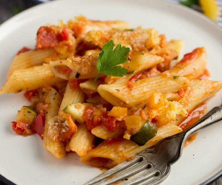 How to Make an Easy One Dish Vegetable Pasta Bake