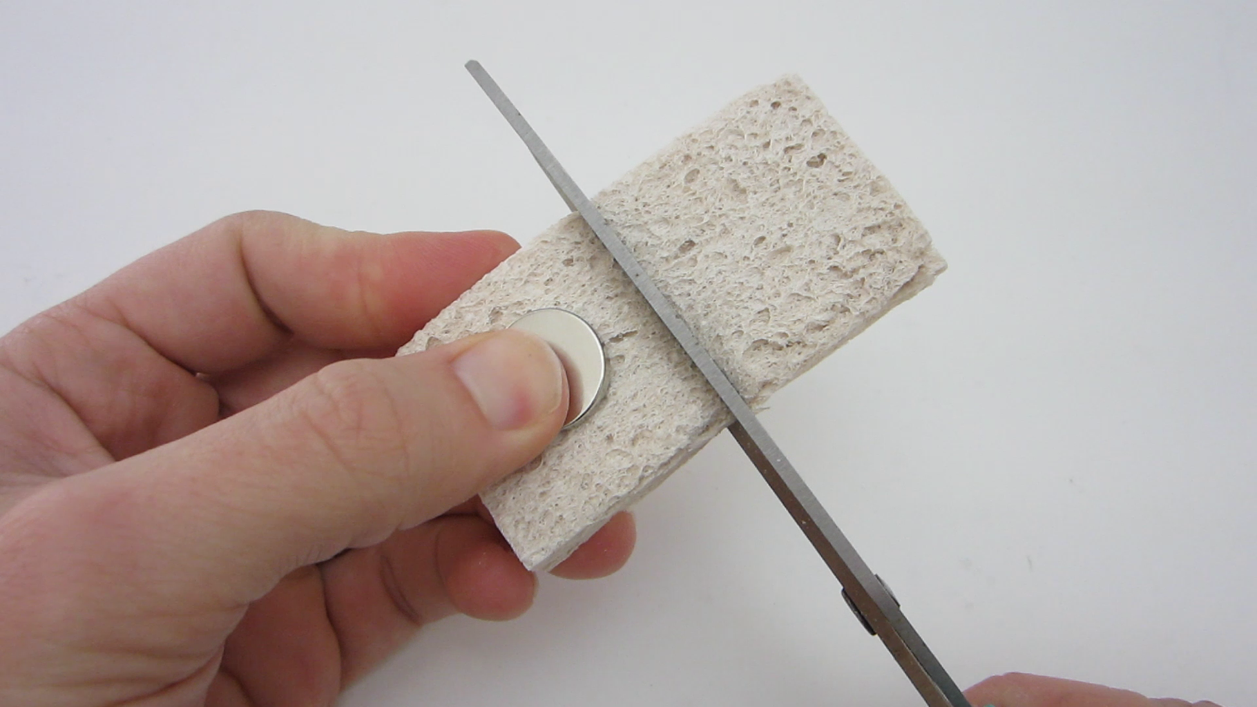 Cut the Scrubber to Be a Little Larger Than the Magnet