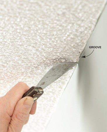 Painting on Groove Textured Ceilings