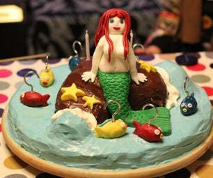 Playable Mermaid Birthday Cake