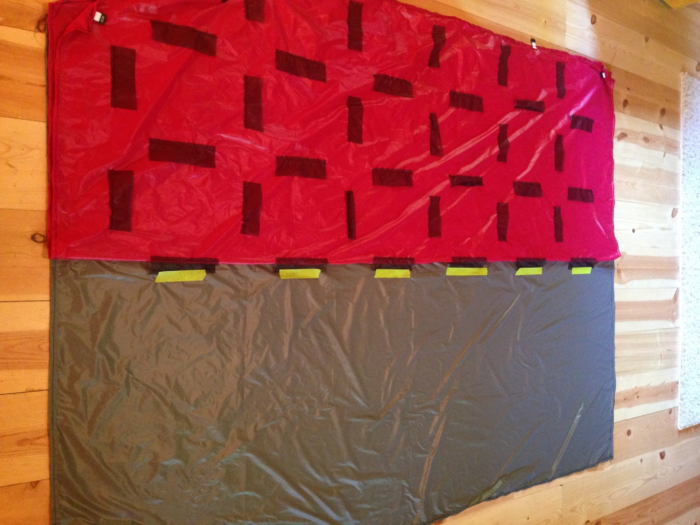 Sew the Top Quilt Baffles to the Bottom