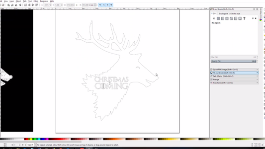 Design and Cut the Reindeer
