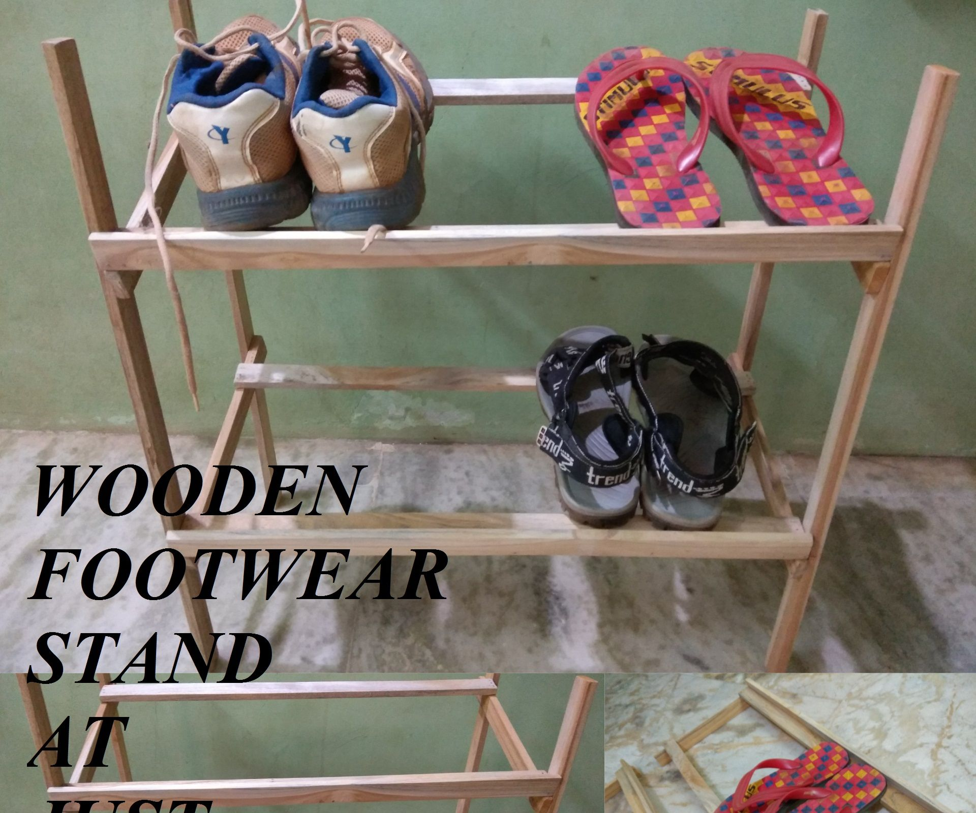 WOODEN  FOOTWEAR AT JUST 60.Rs or 1$