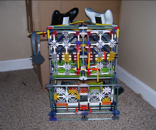 Knex Xbox 360 Game, Controller, Console, and Guidebook Cabinet
