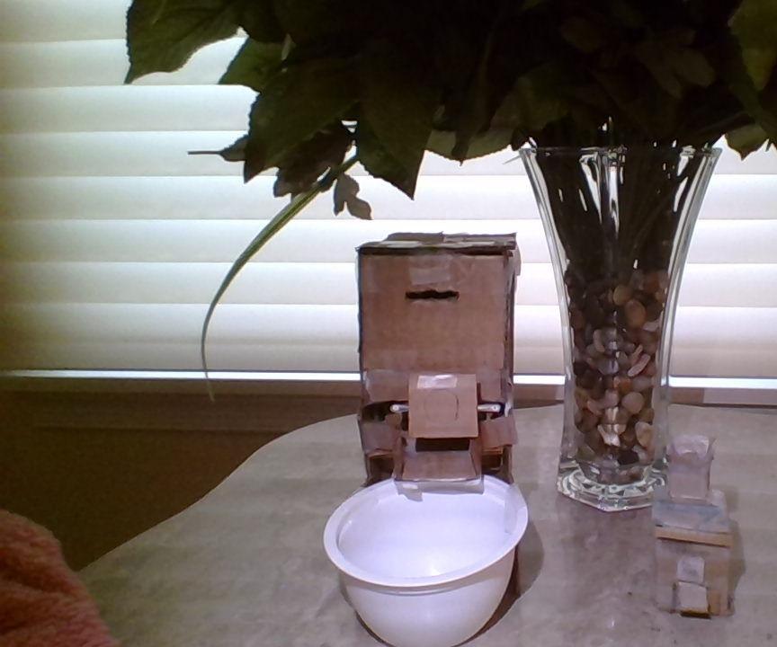 Cardboard Food Dispenser