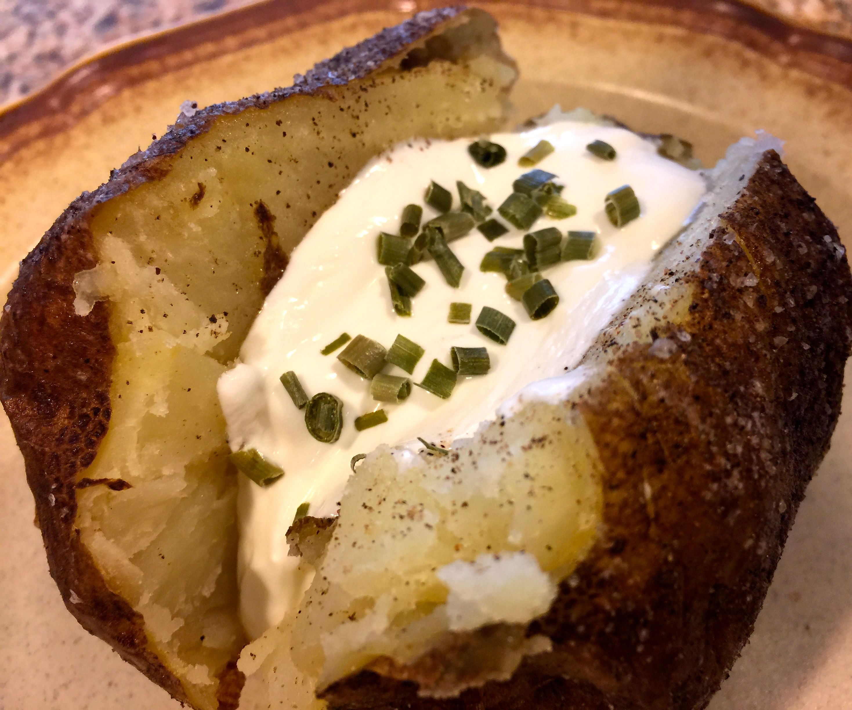 Pressure Cooker Baked Potatoes