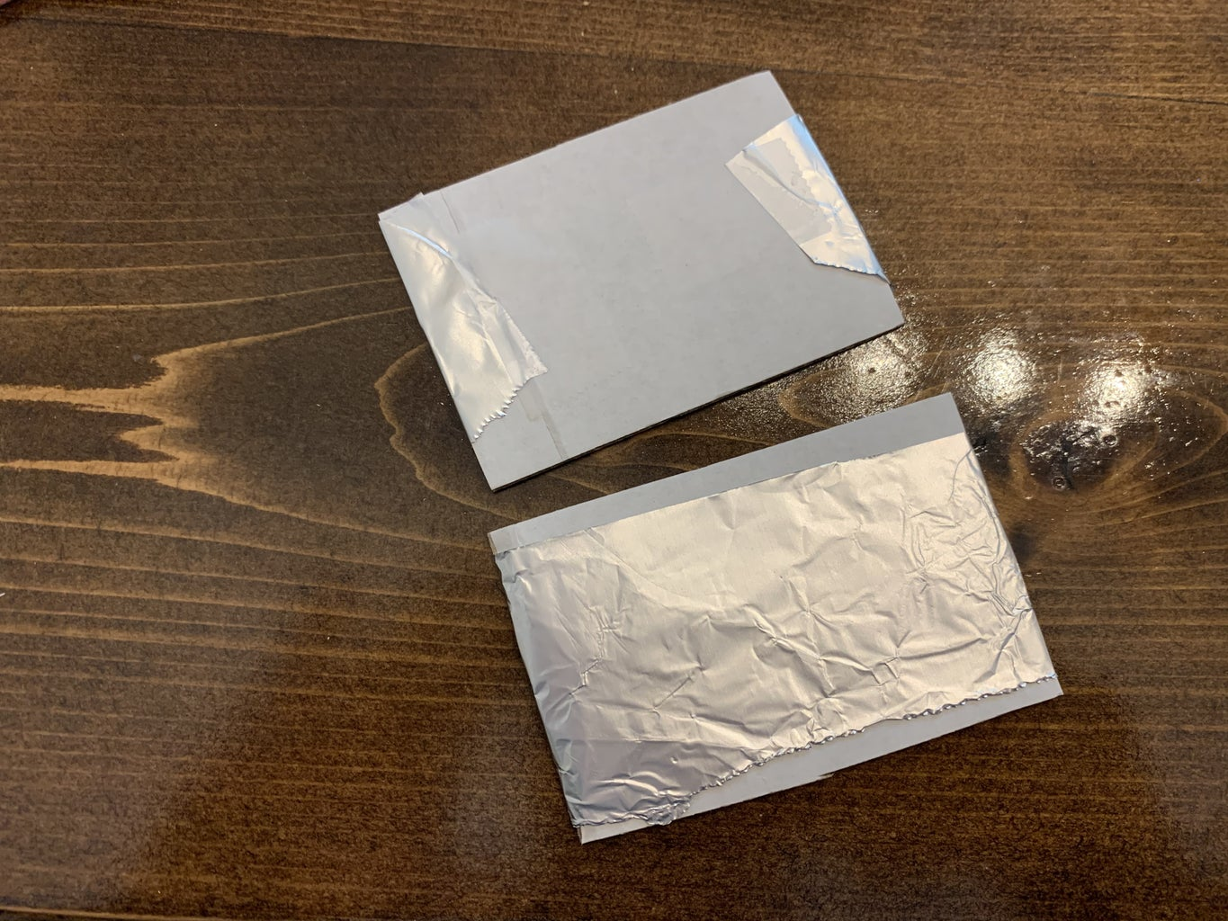 Cover With Aluminum Foil