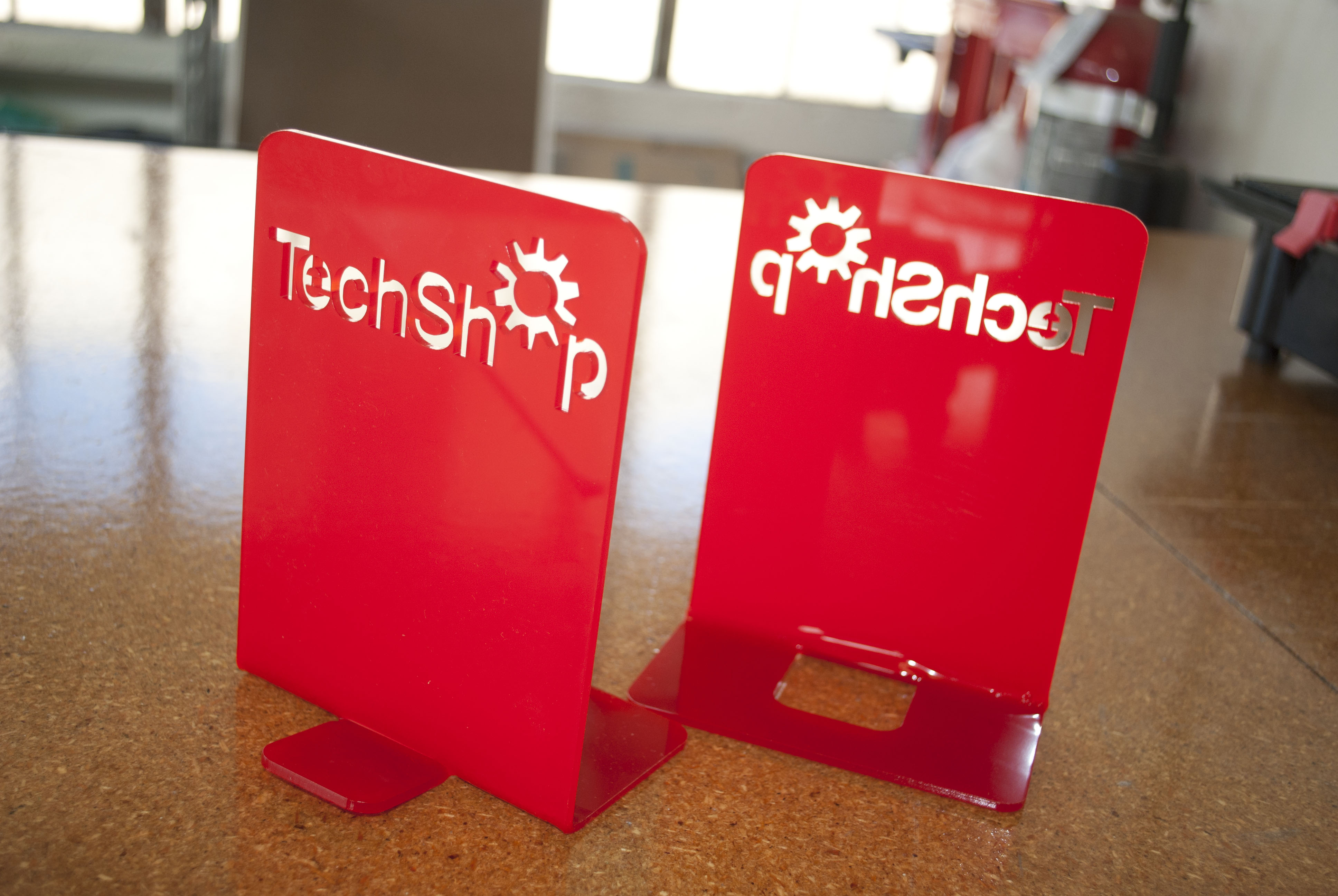 Laser Acrylic Bookends by TechShop