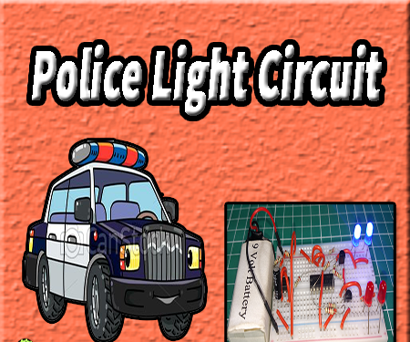 Police Light Circuit | 555 Timer Projects | Cd4017 Circuit
