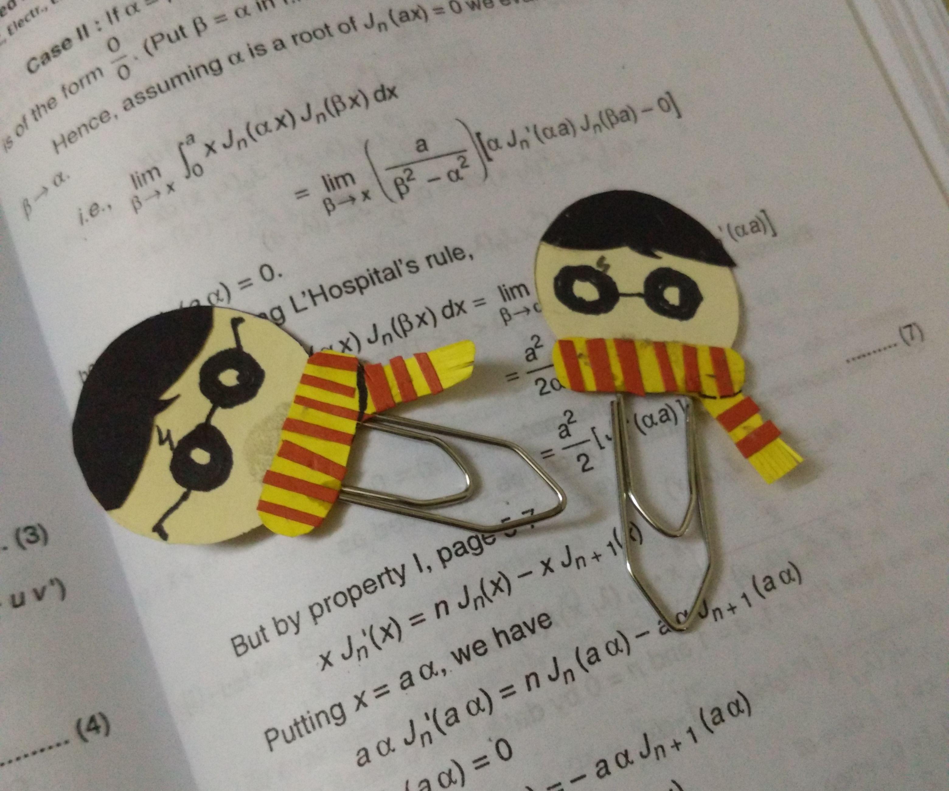 Harry potter DIY Bookmark