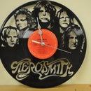 Vinyl Record Clock Art