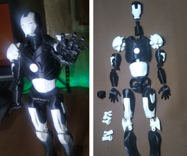Truly Customizable 3D Printed Iron Man Figure!!