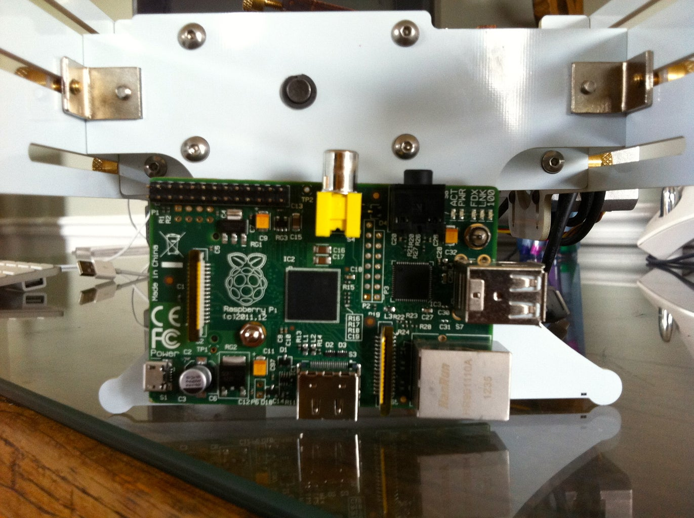 Secure the Pi Onto the Bolts