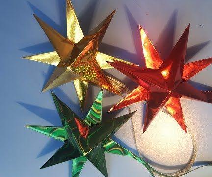 3D Stars Звёзды Новогодние