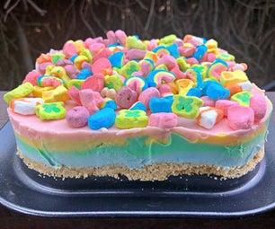 Lucky Charms No-Bake Rainbow Cake