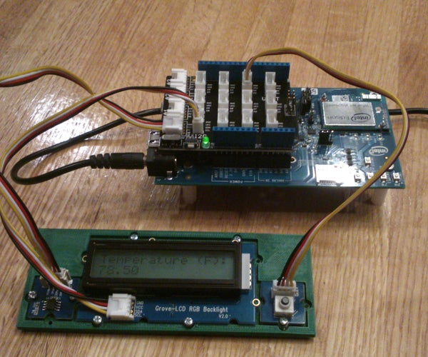 Intel Edison/Arduino Temperature Display With Momentary Backlight
