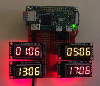 Raspberry Pi Amateur Radio Digital Clock